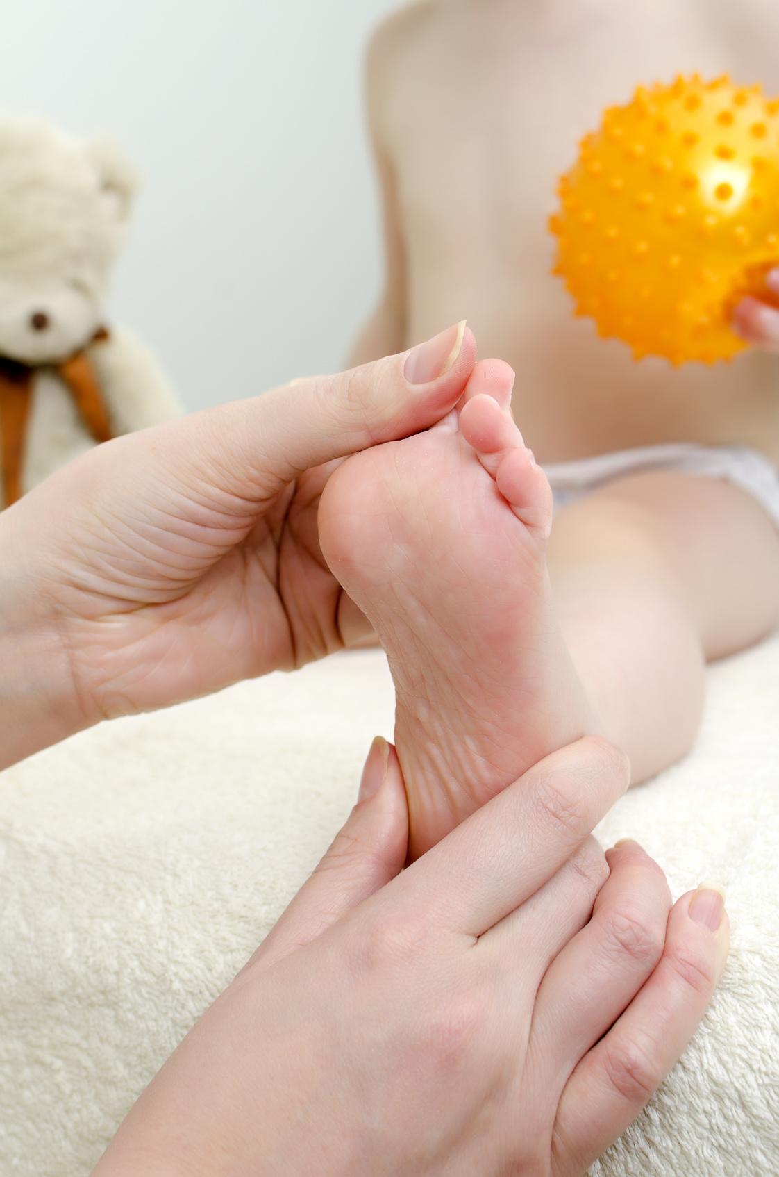 Fuß und Therapeut