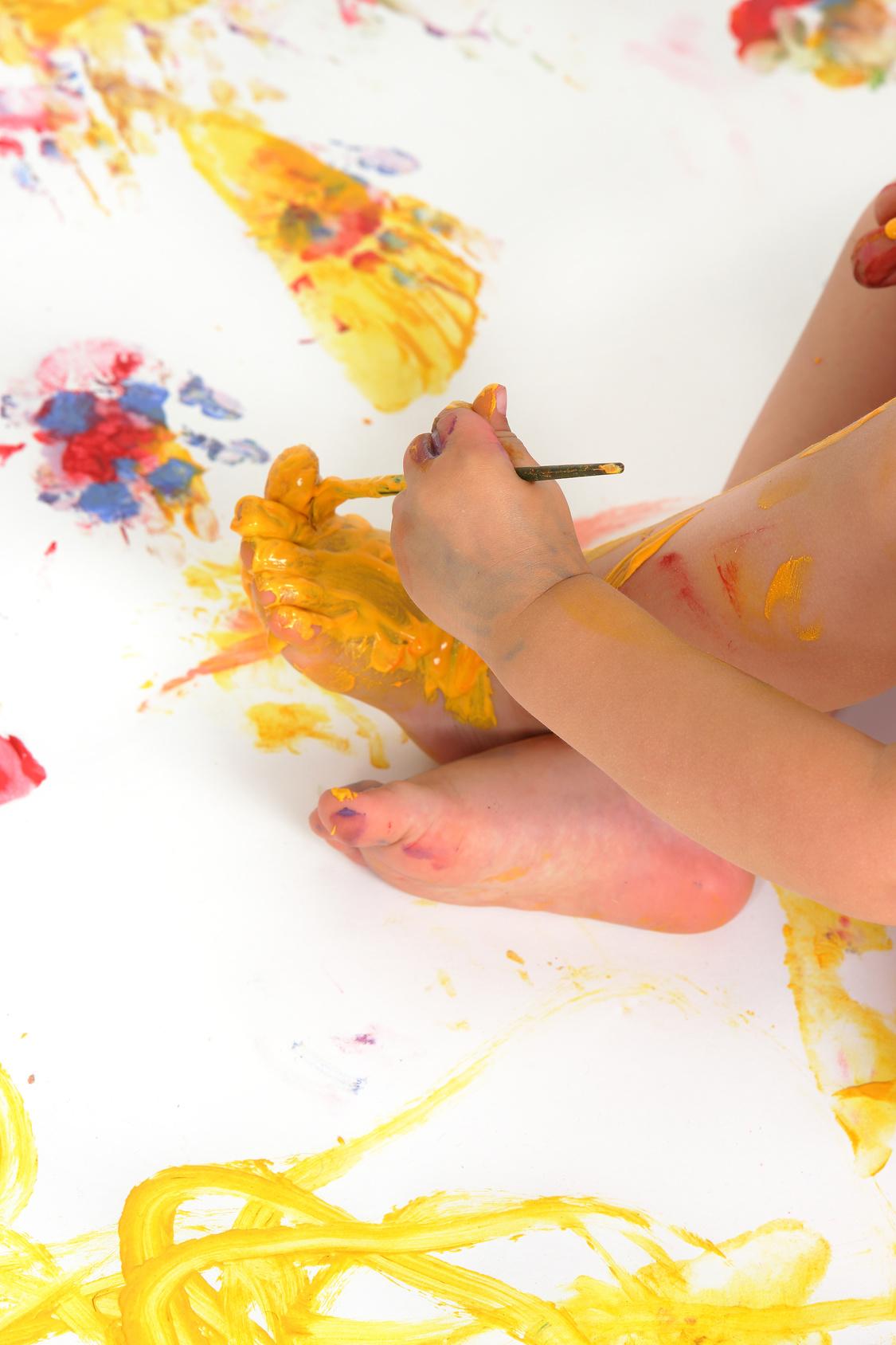 Fuß und Farbe